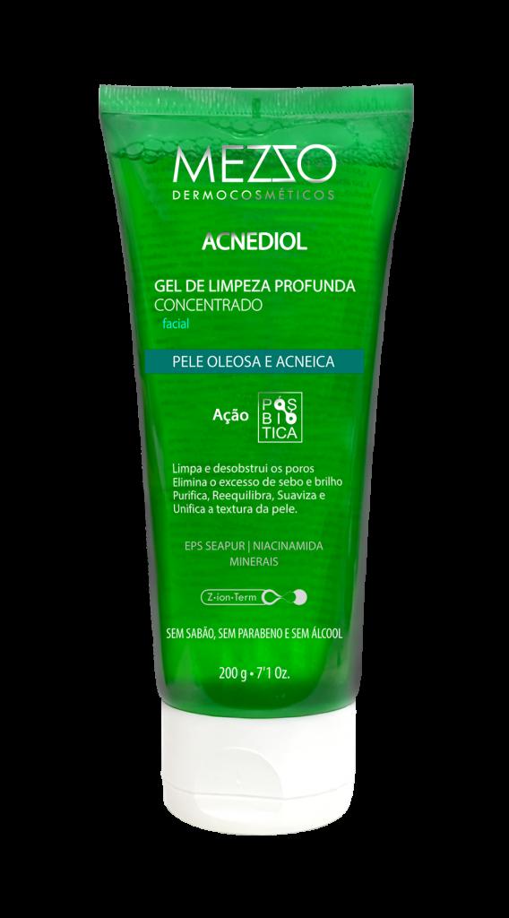 Mezzo Dermocosméticos lança Acnediol Gel de Limpeza Profunda